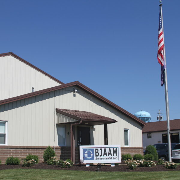 Front of BJAAM Environmental Inc. corporate office building on a sunny day