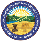 Petroleum Underground Storage Tank Release Compensation Board circular logo with rising sun and wheat field